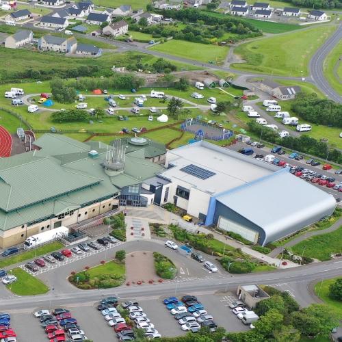 Orkney Caravan Park Aerial
